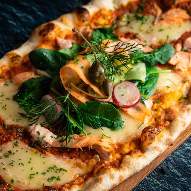 Värskest toorainest pitsa