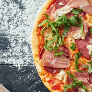 Pizza prosciutto singiga